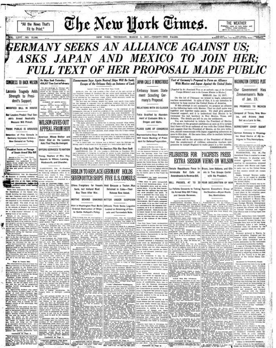 ZimmermanNYT1Mar1917