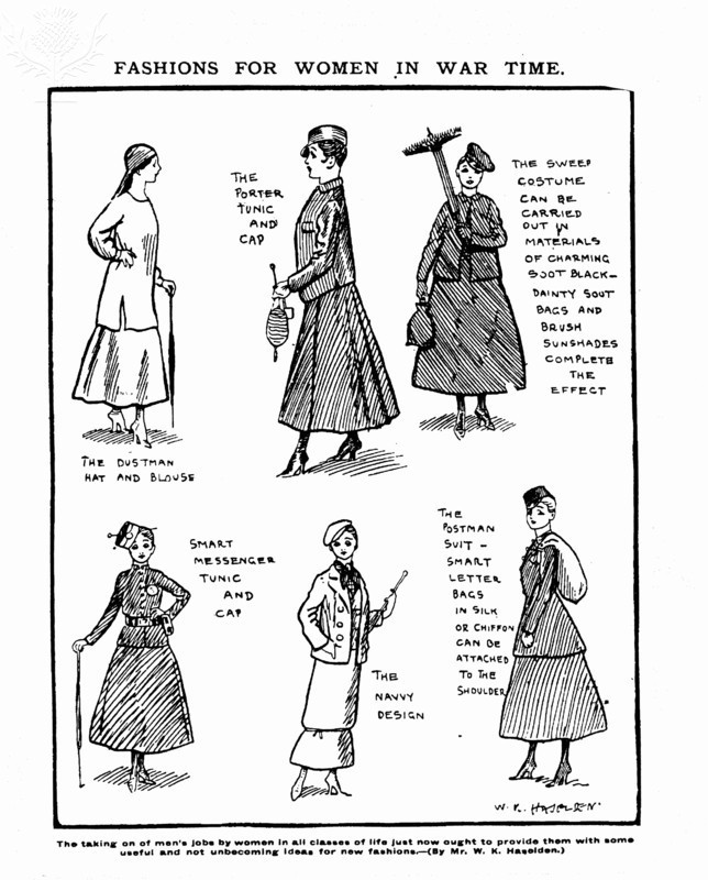 fashions for women in war time