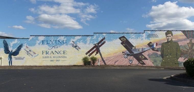 Lafayette mural