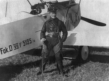 Red Baron with Fokker plane